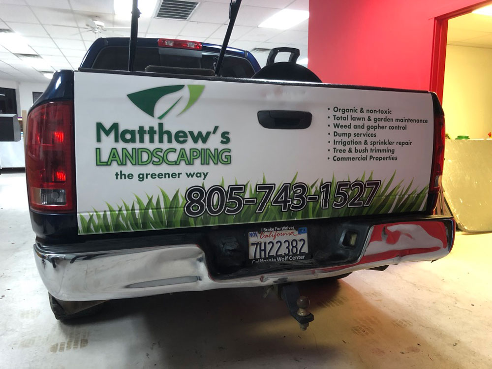 Matthews landscape tailgate wrap