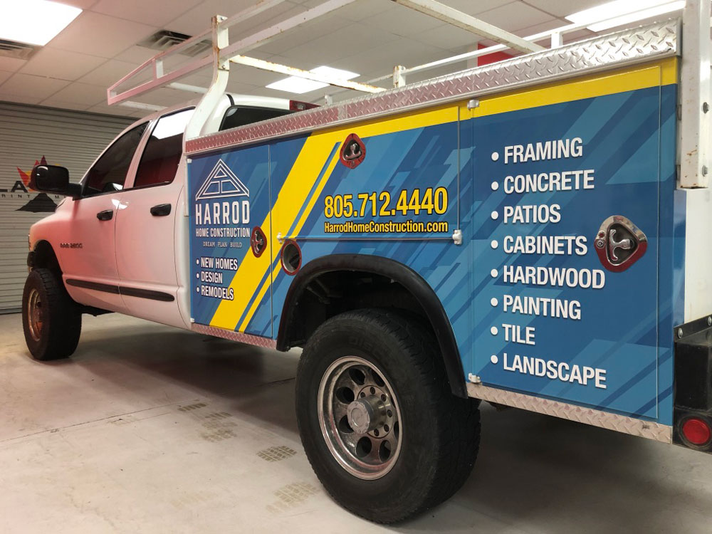 Harrod Construction truck wrap