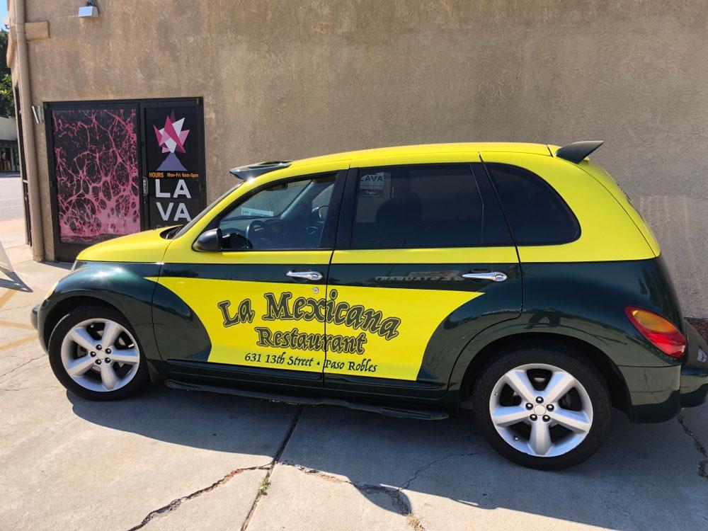 La Mexicana vehicle wrap