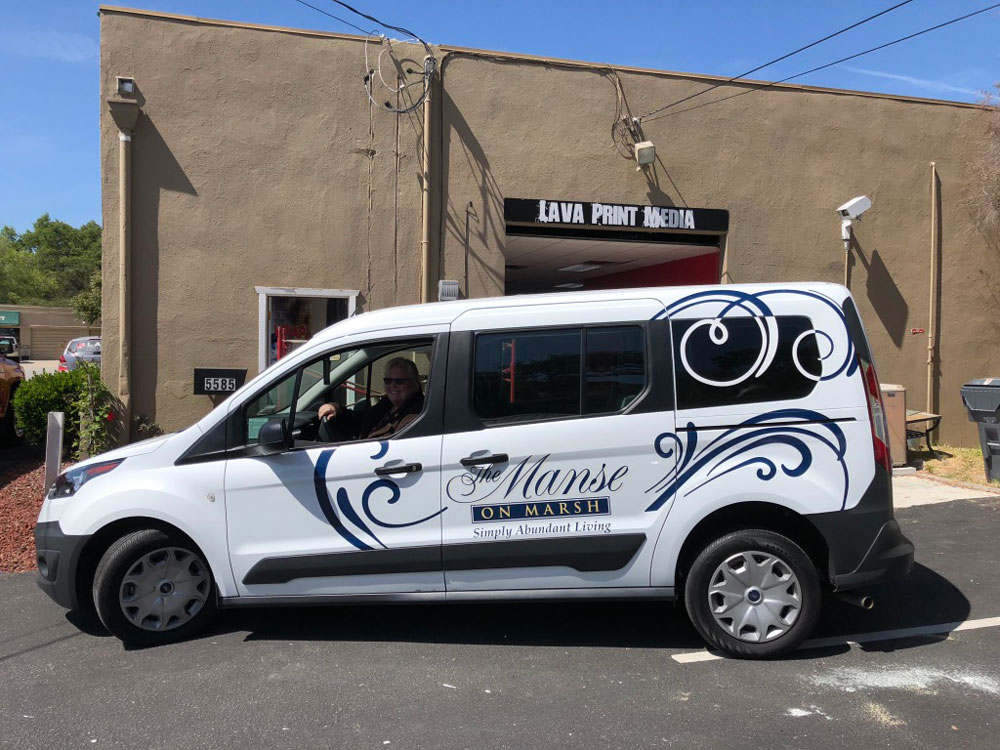 The Manse small van wrap