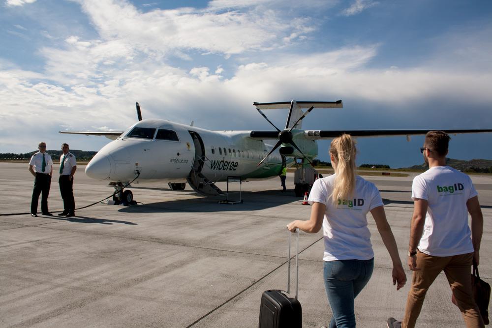 BagID-teamet på Vigra flyplass i Ålesund