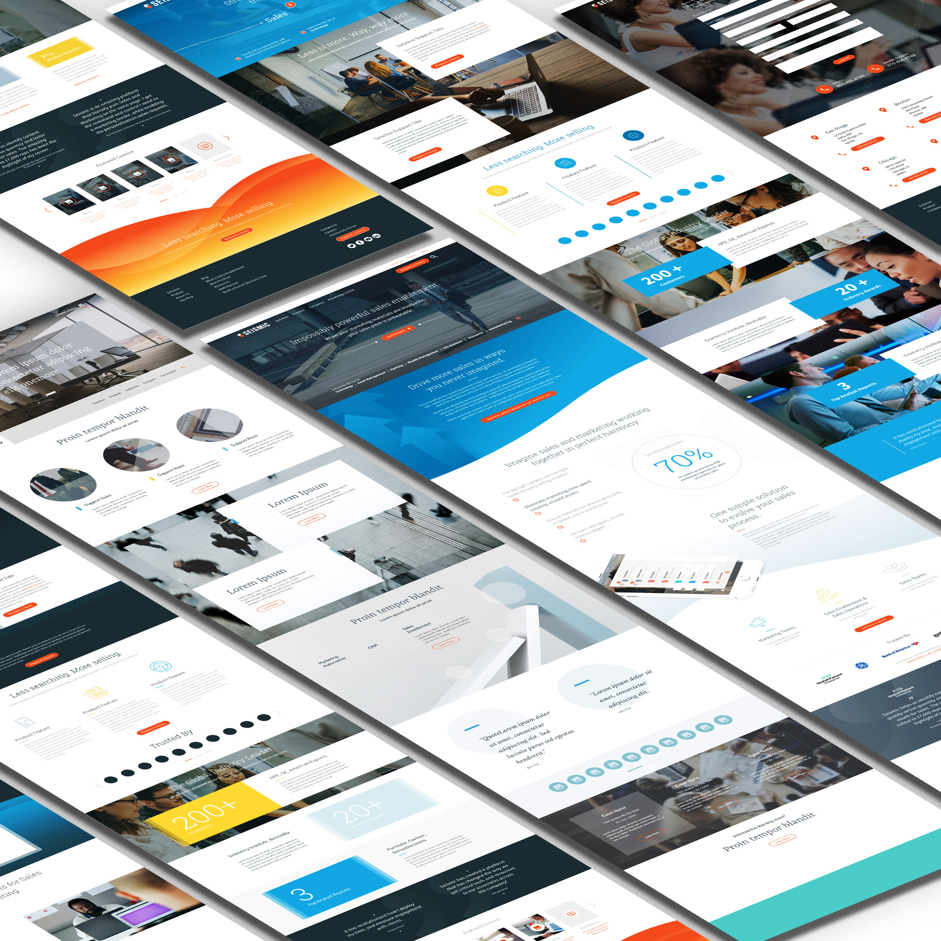 Seismic website conceptual design exploration