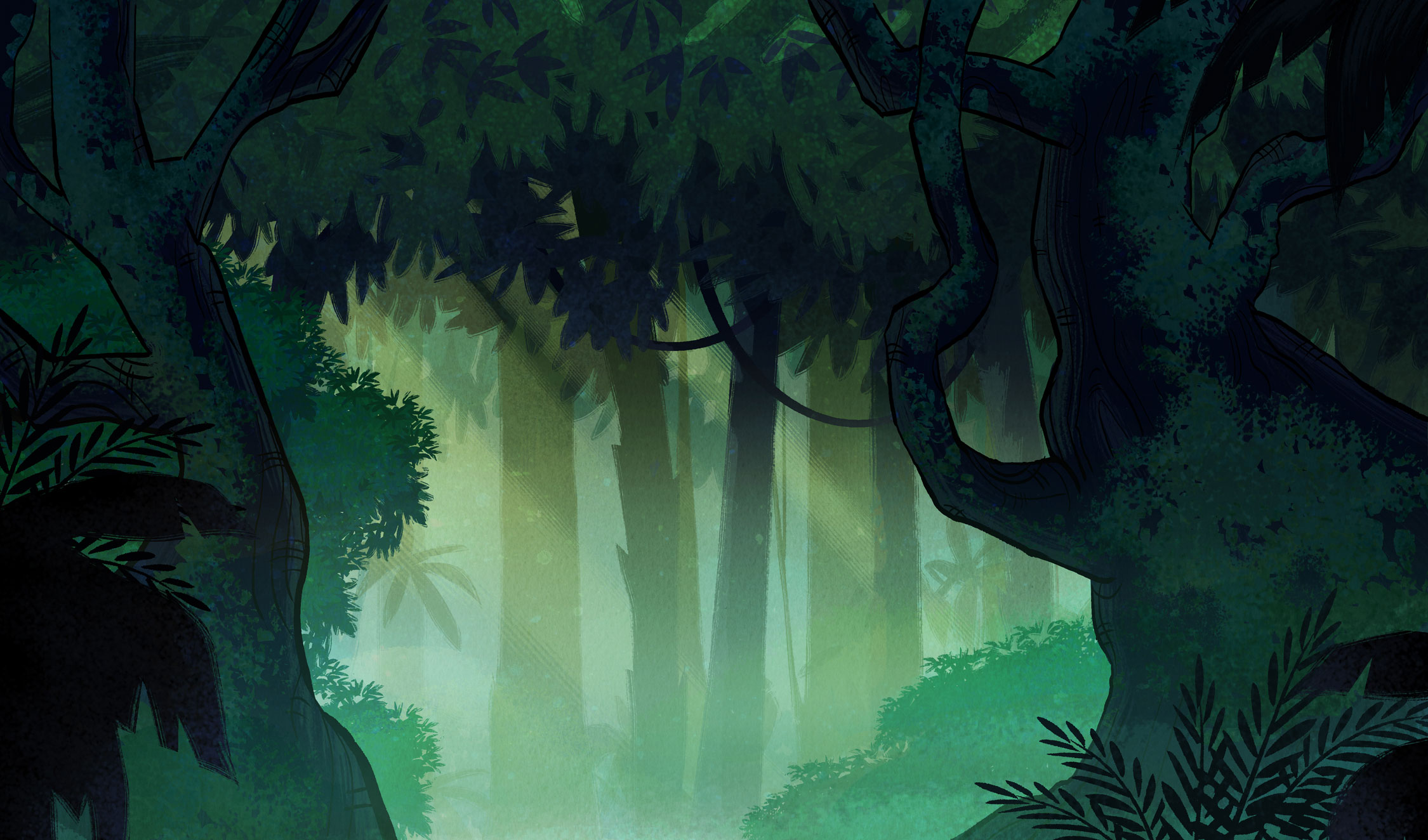 Ben 10 Background Painting