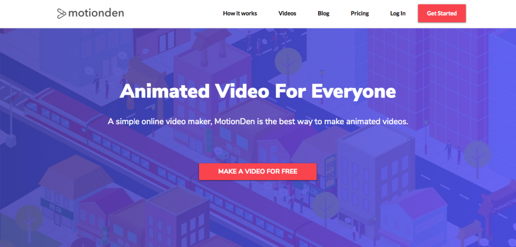 motionden landing page