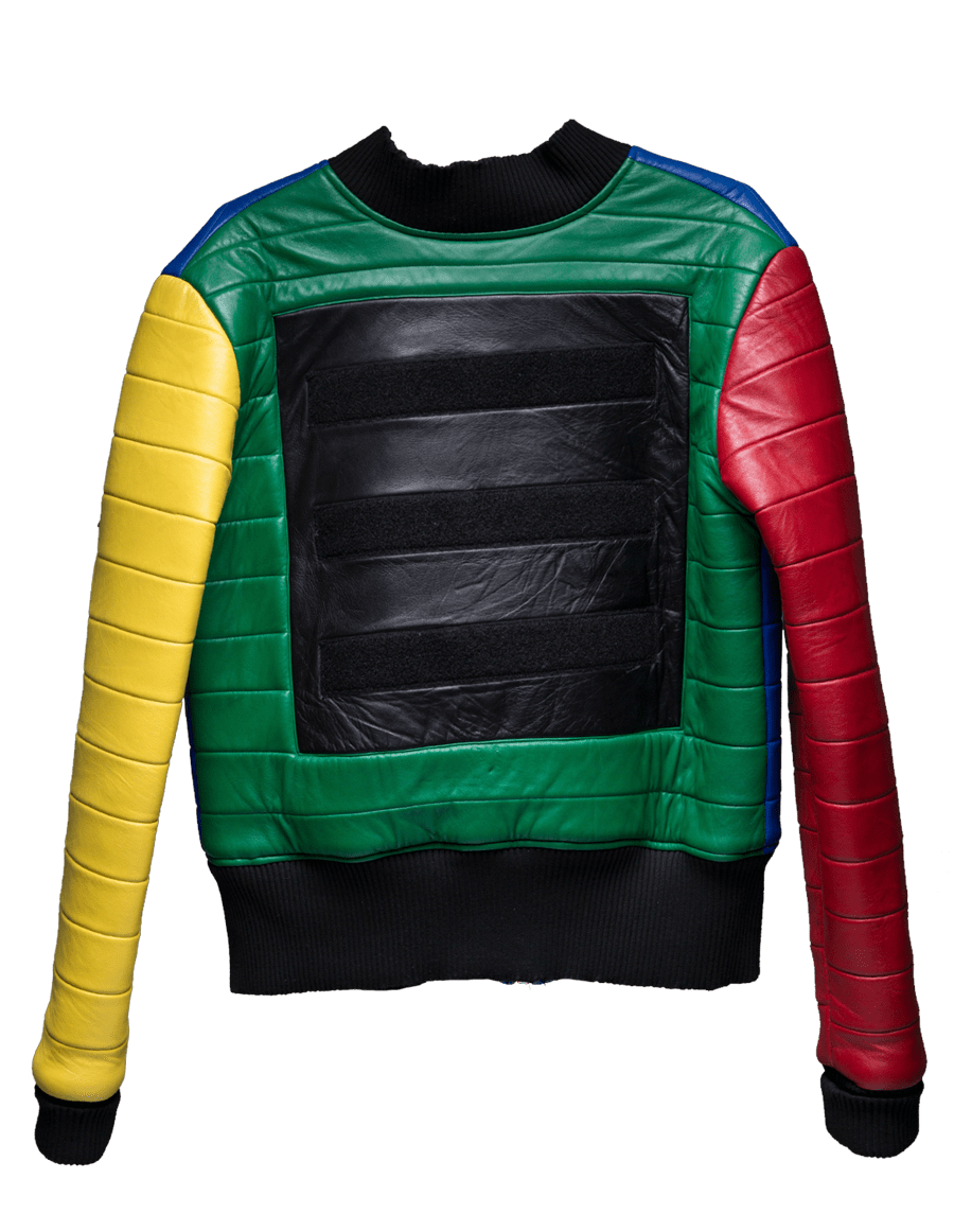 MULTI COLORED LEATHER JACKET