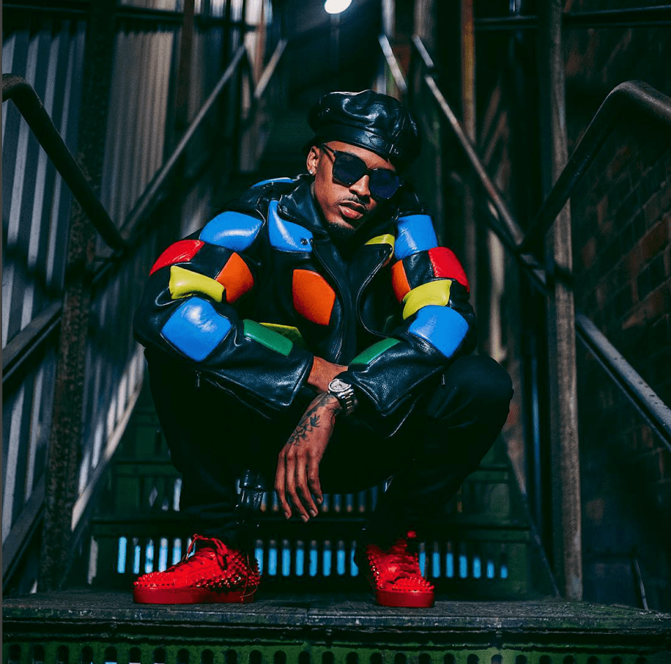 August Alsina in Rubricks Leather Jacket