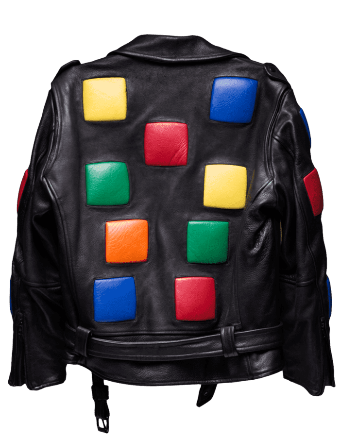 Rubik's Cube Leather Jacket