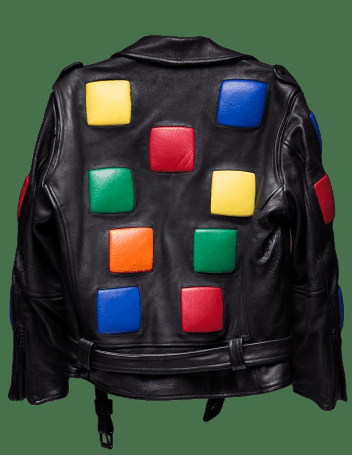 Rubik's Cube Leather Jacket
