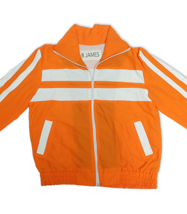 "Orange 100% cotton tracksuit. Includes orange ""Elevation Loading"" track jacket and matching 2 pocket track pants. Track Jacket includes double pockets and full front zipper."
