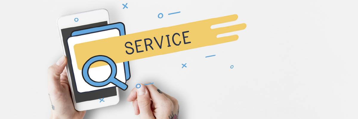 Showcasing services online