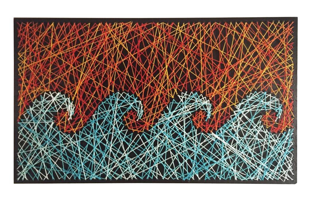 Ondas waves string art arte em linhas Guilherme Palmerio