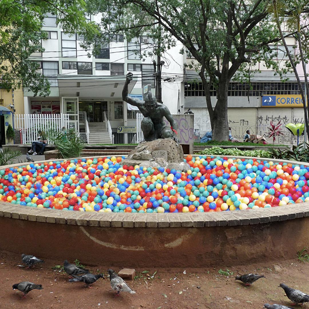 projeto de intervenção urbana na Fonte Indio Pescador na Av. Paulista - Guilherme Palmerio