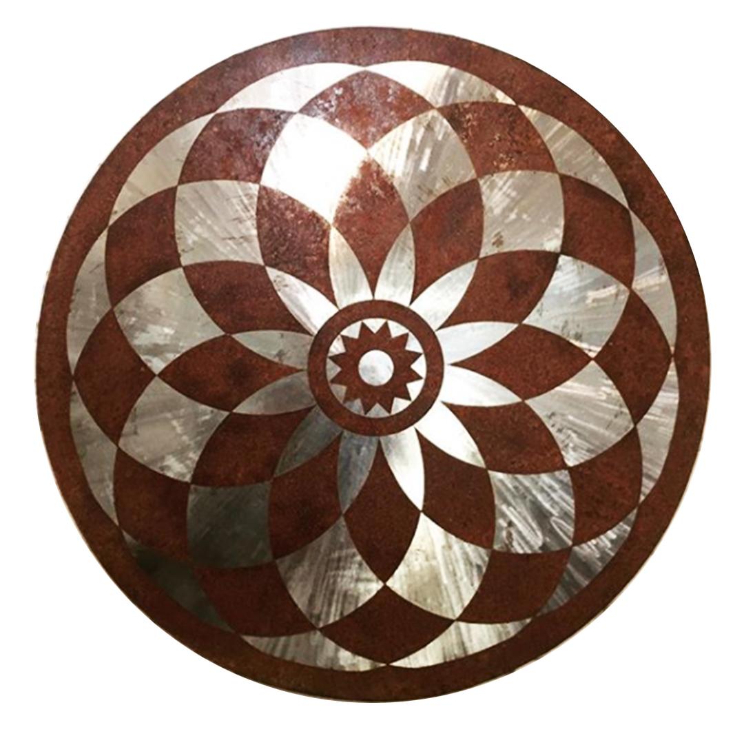 arte Mandala oxidado ferrugem Guilherme Palmerio aço carbono