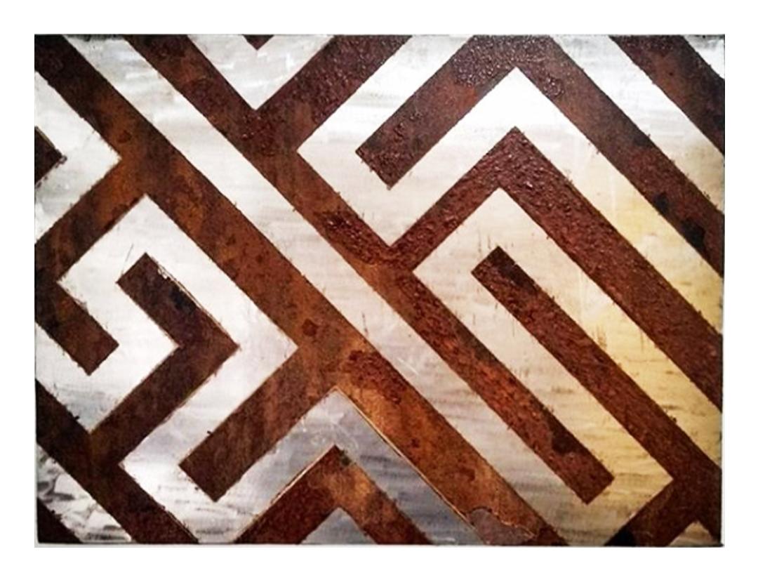arte Labirinto oxidado aço carbono Guilherme Palmerio