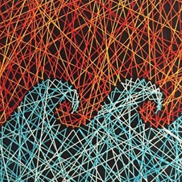 detalhe obra Ondas Guilherme palmerio string art