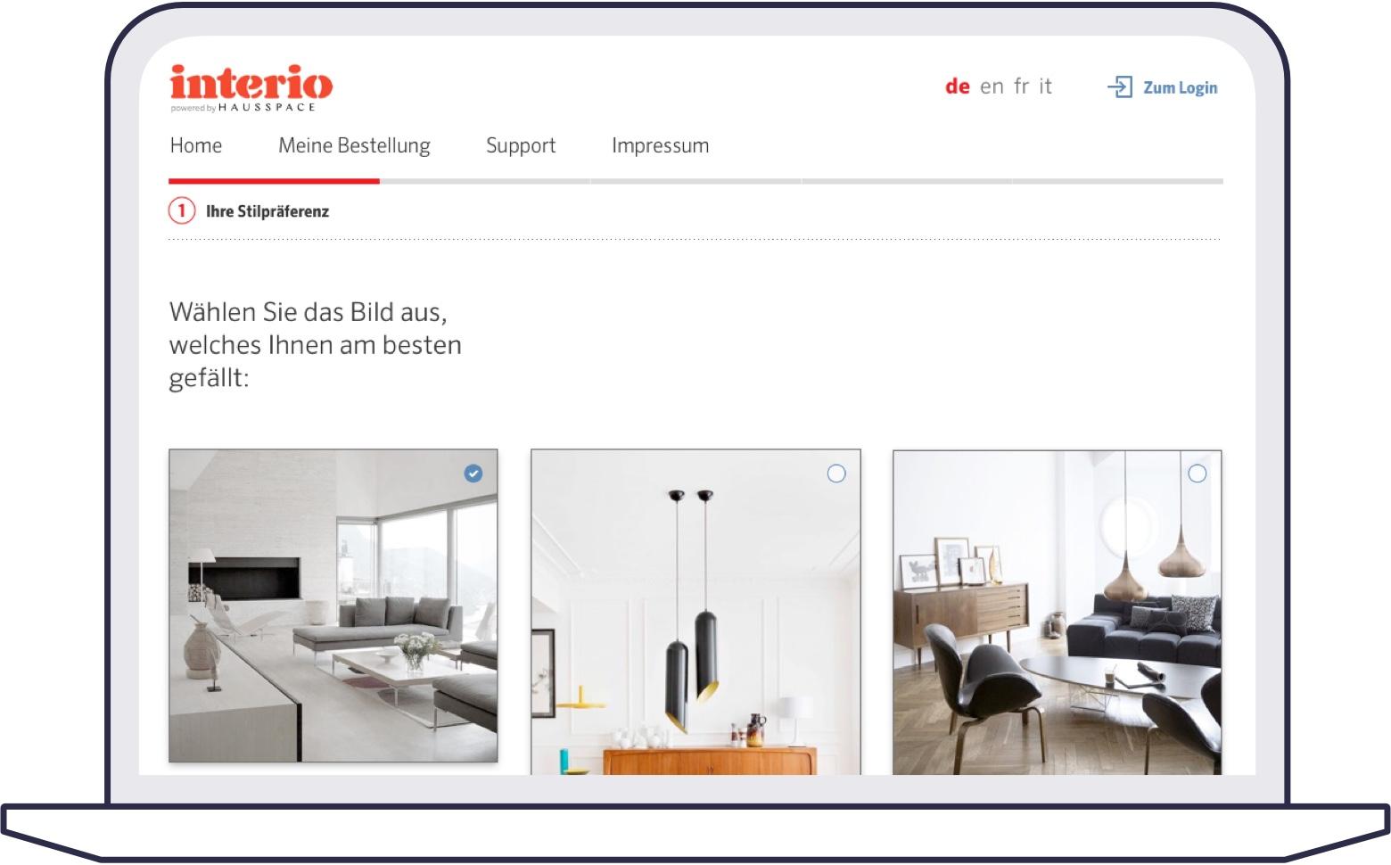 Screenshot of style finder