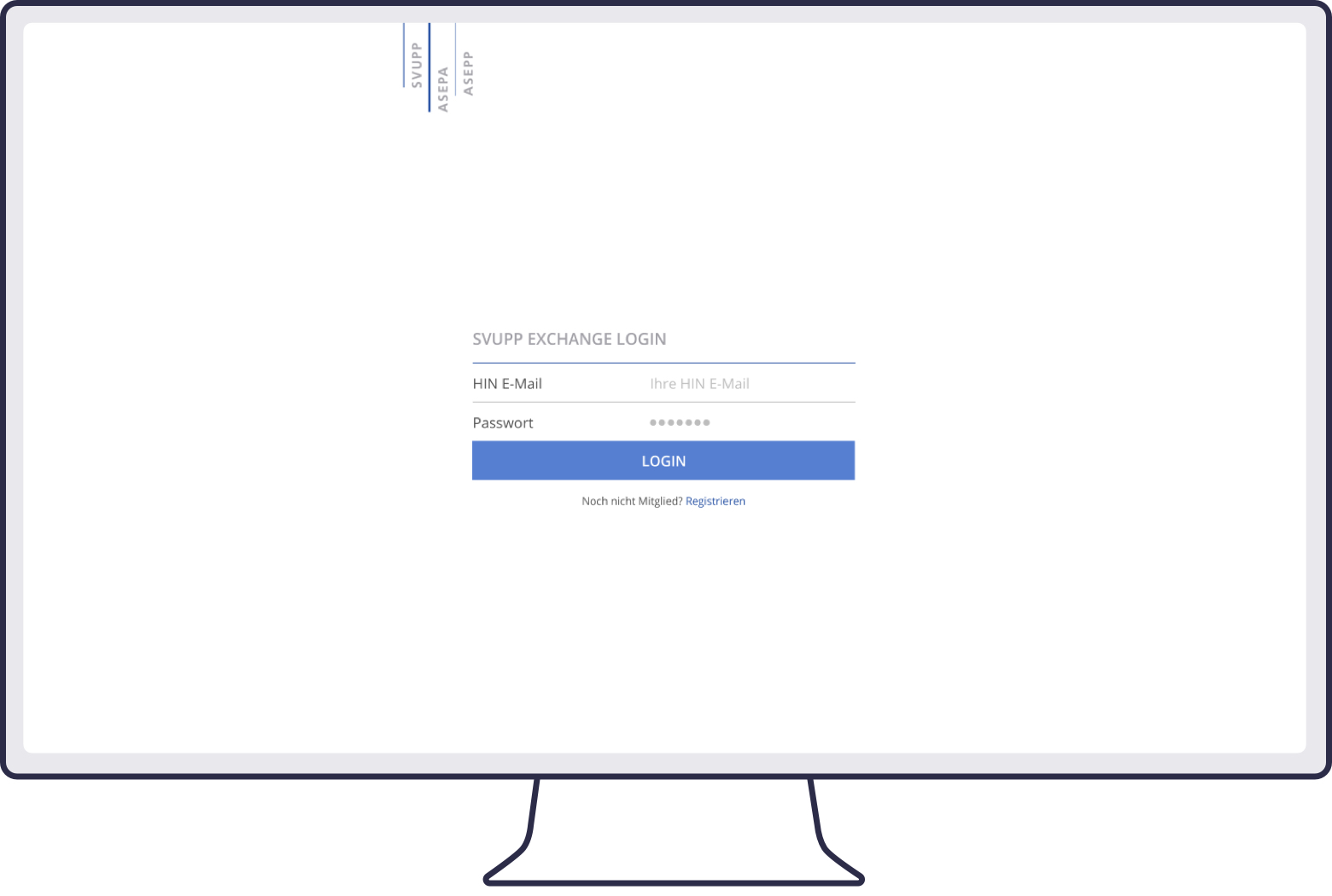 Screenshot of SVUPP login