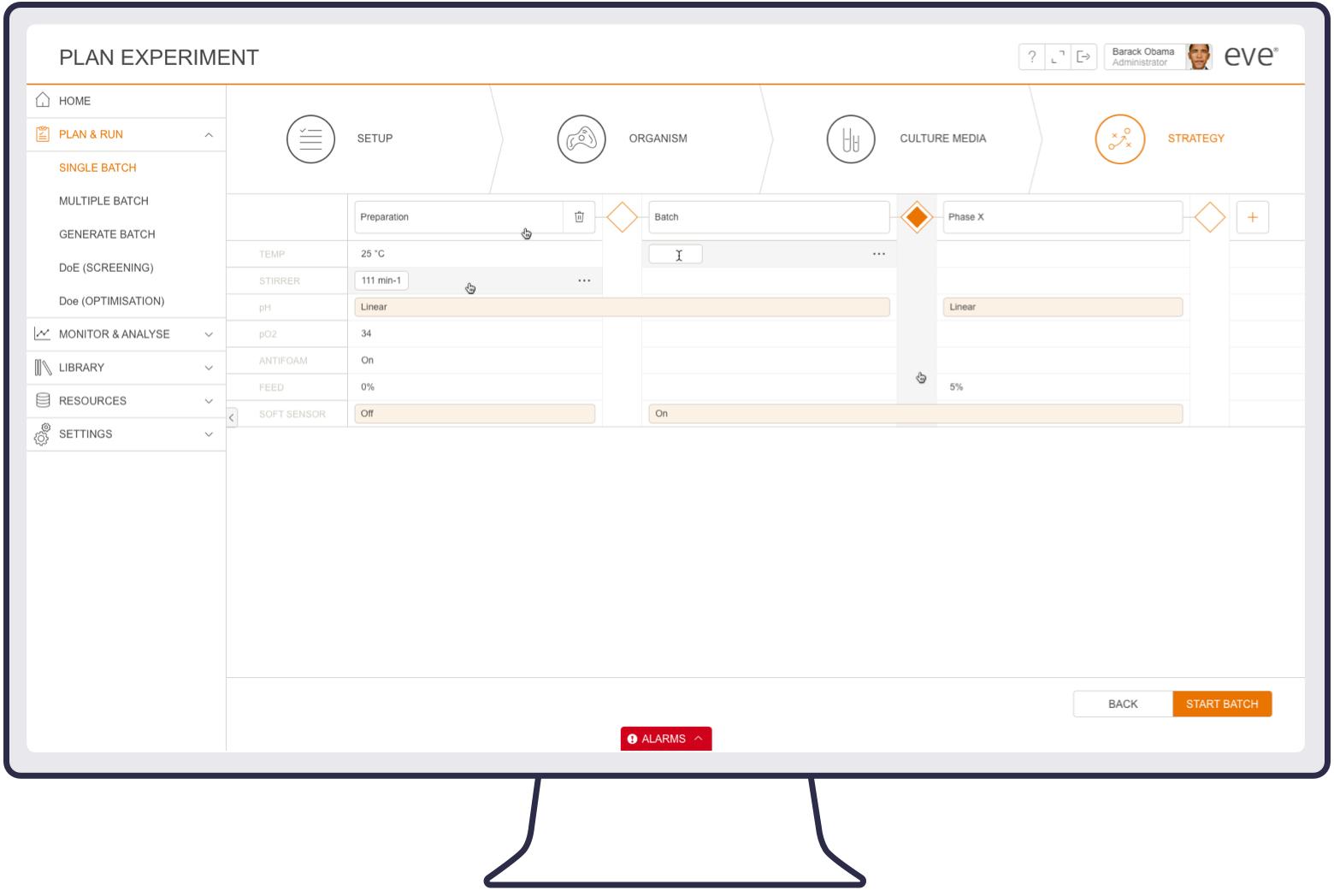Screenshot of eve batch strategy planning