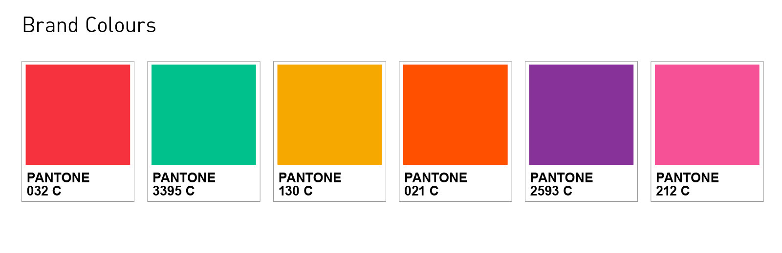 Brand colours for chemical consumable branding