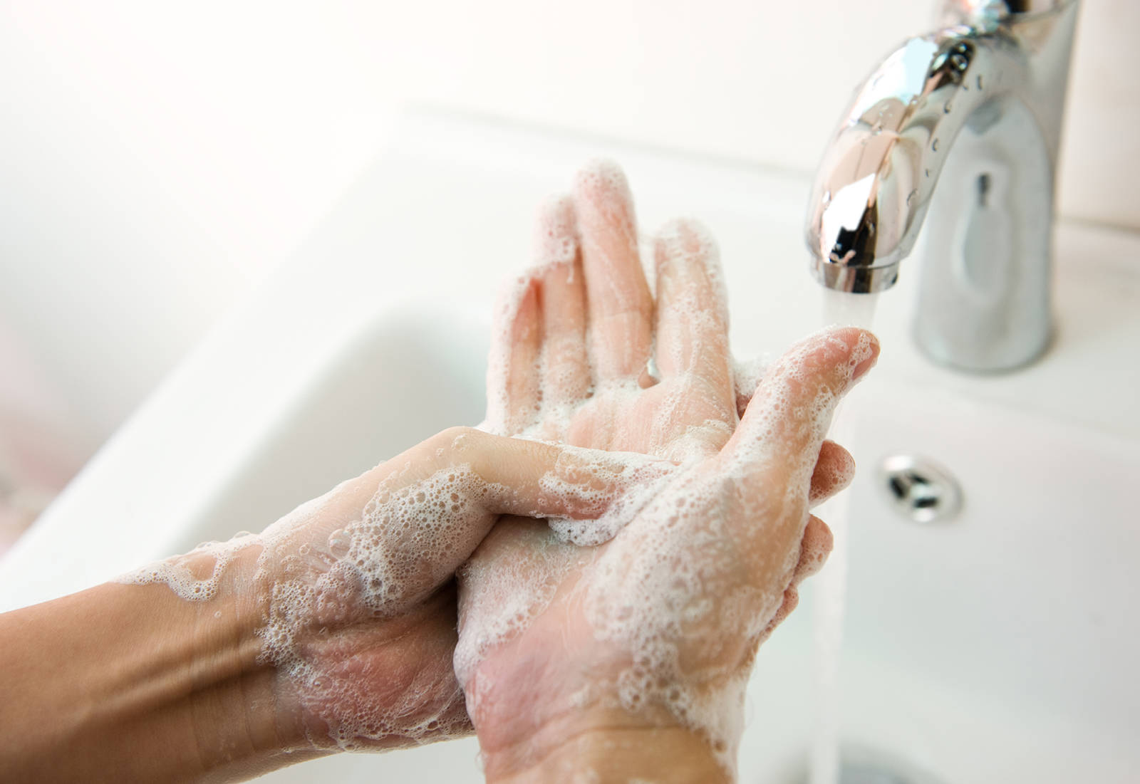 Now please wash your hands!