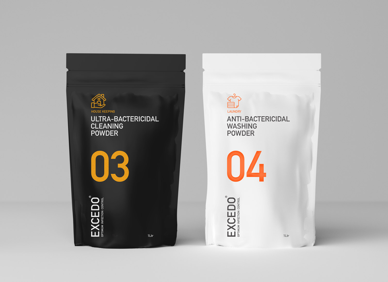 Brand design for heath consumables in the form of recycled packaging