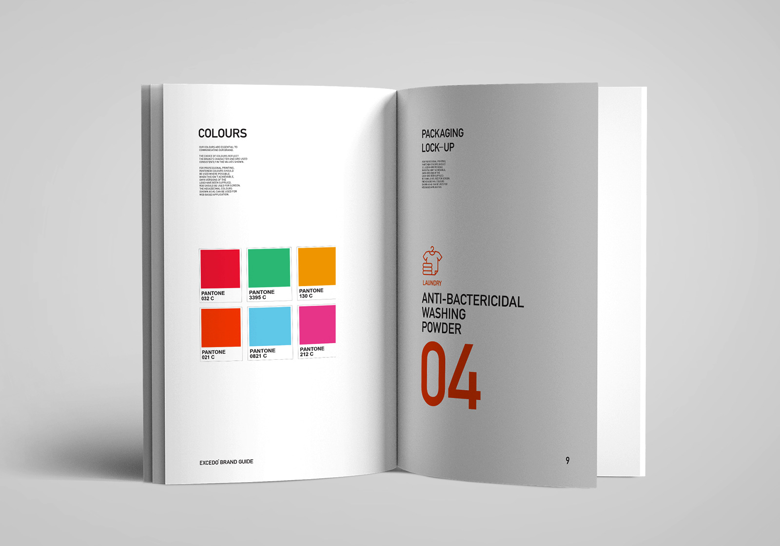 inside pages of a style guide for a medical consumables brand