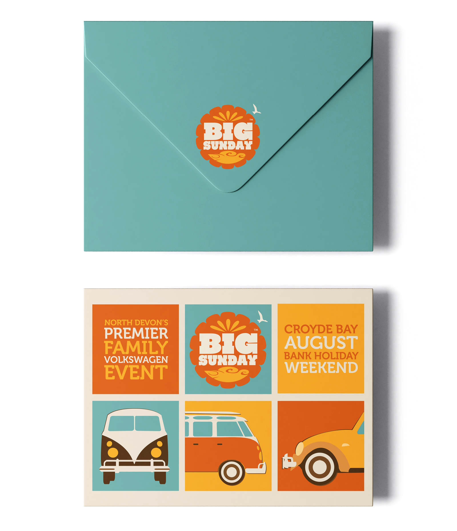 direct mail campaign and branding for a charity festival