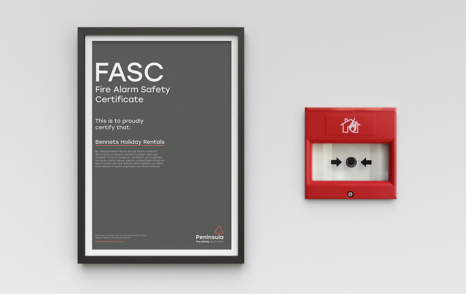 fire safety company brand design
