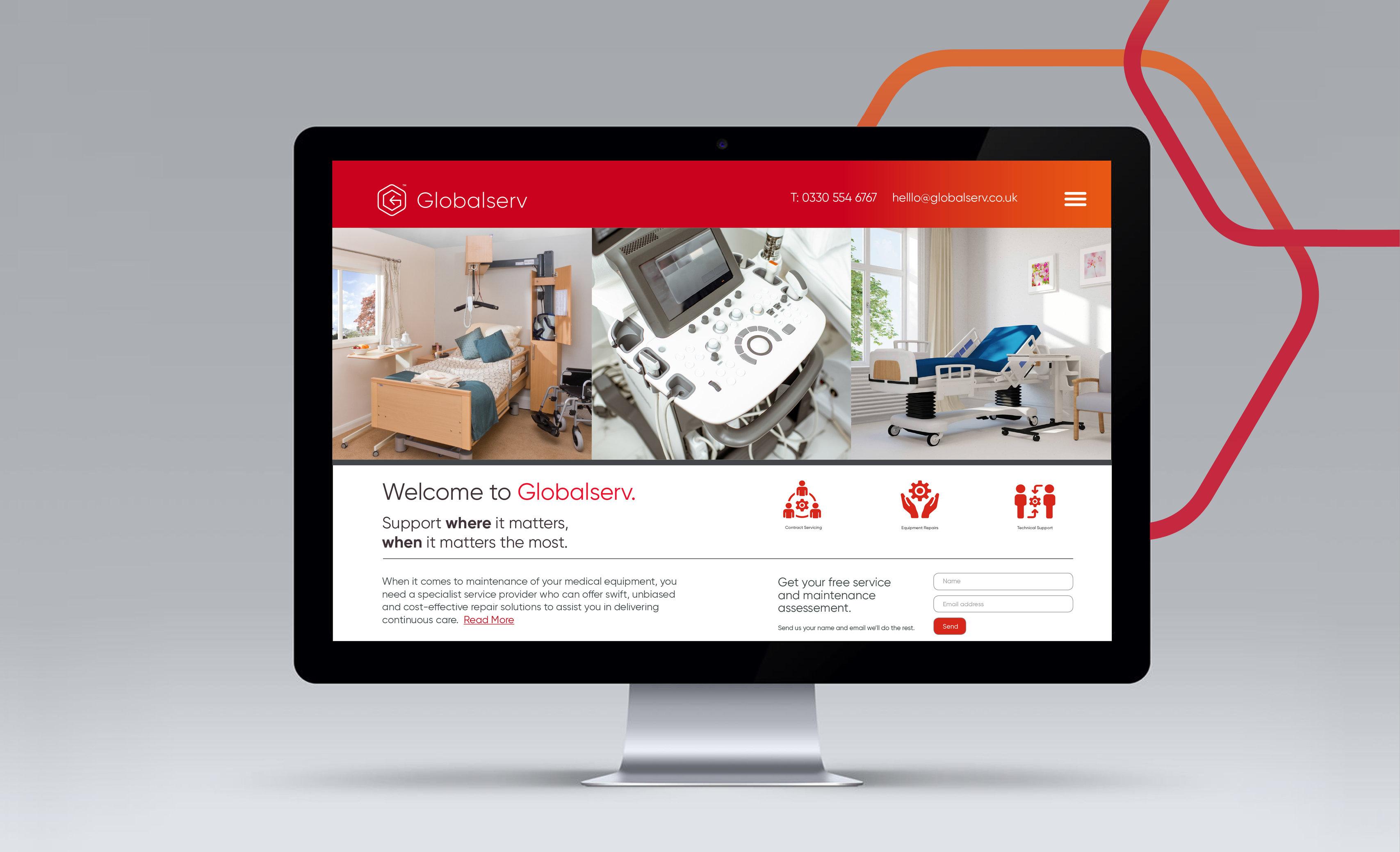 Web design for corporate healthcare equipment service provider