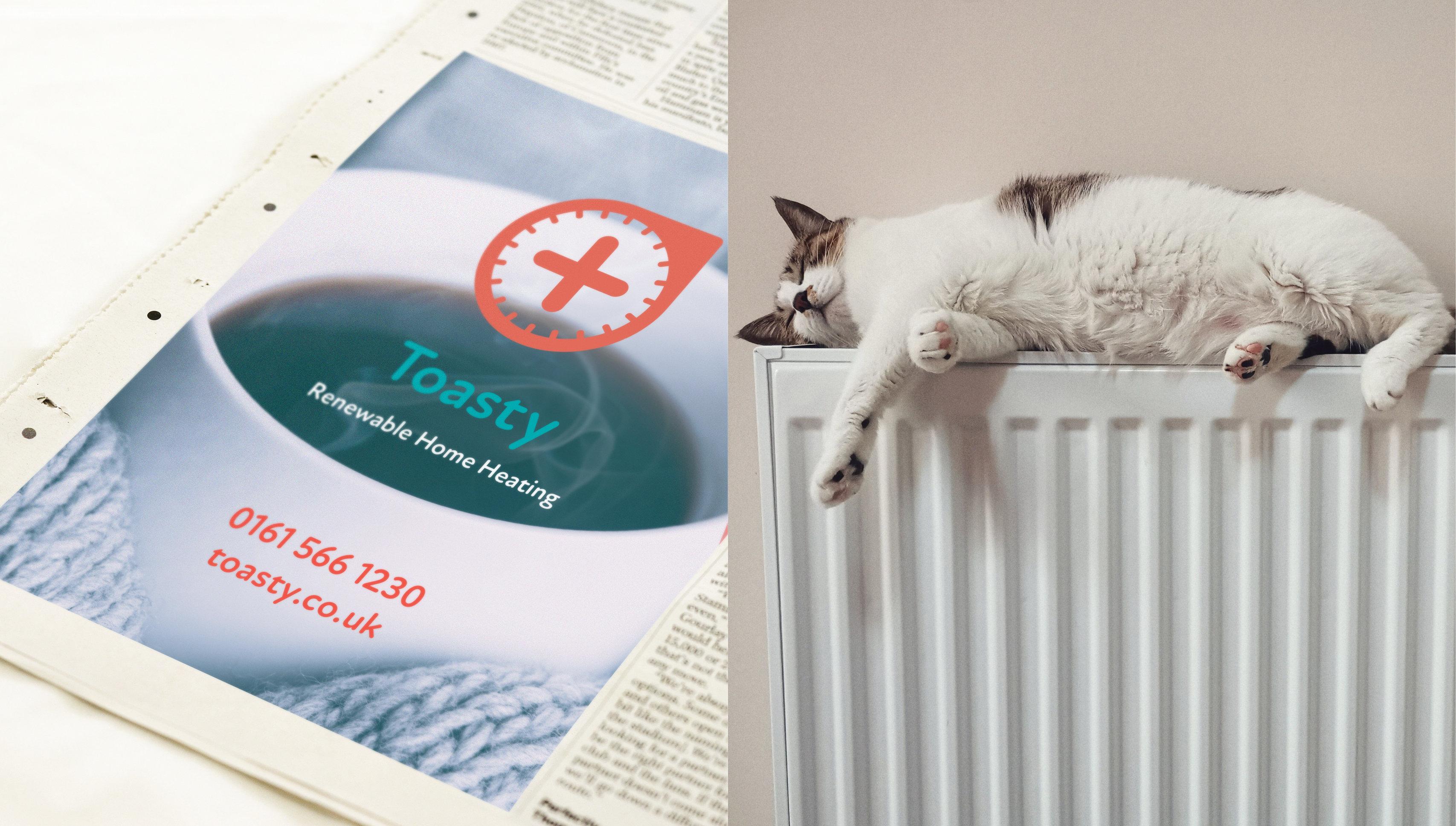 branding and logo design for renewable energy home heating supplier