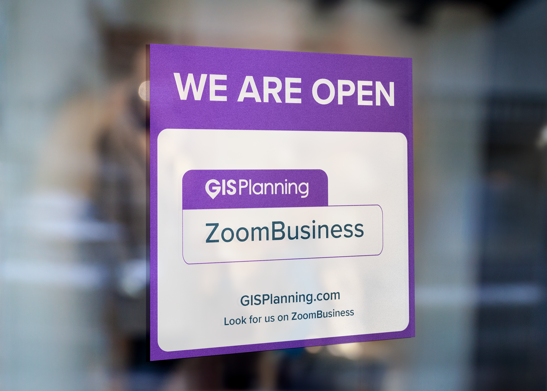 GIS Planning ZoomBusiness Window Display
