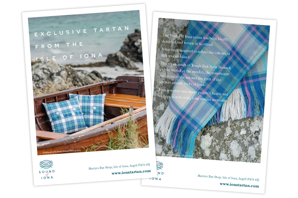 Sound of Iona A6 postcard  Skein Agency digital design marketing Glasgow