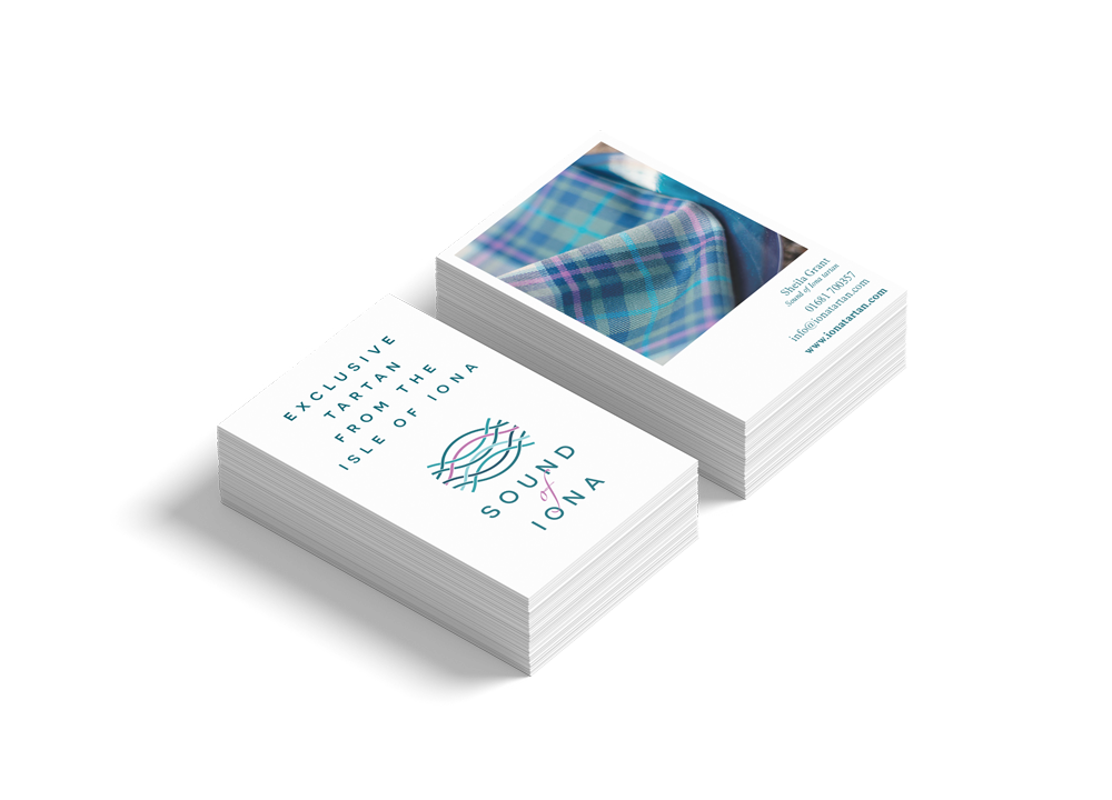 Sound of Iona business cards  Skein Agency digital design marketing Glasgow