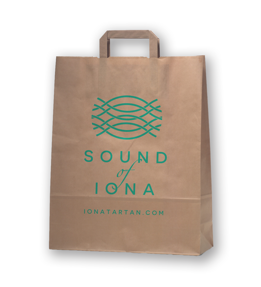 Sound of Iona paper gift bag  Skein Agency digital design marketing Glasgow