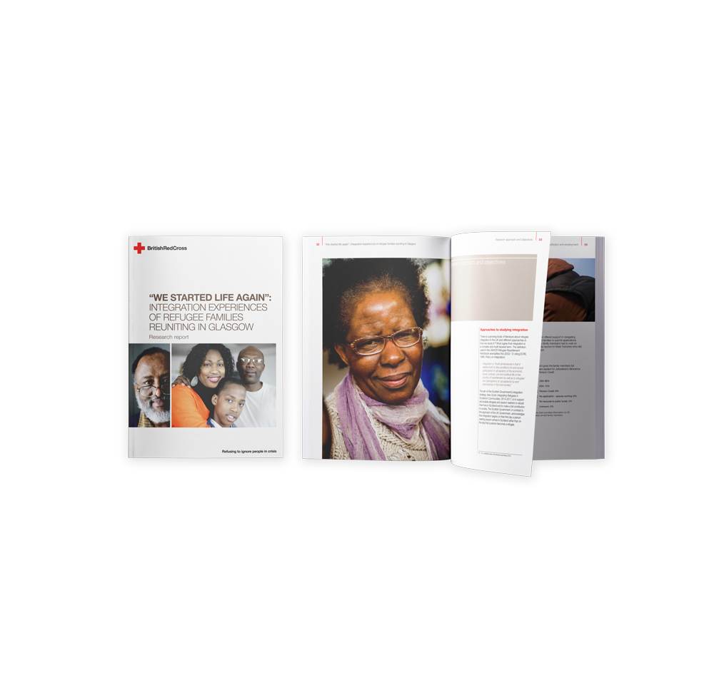 British Red Cross document design Skein Agency digital design marketing Glasgow