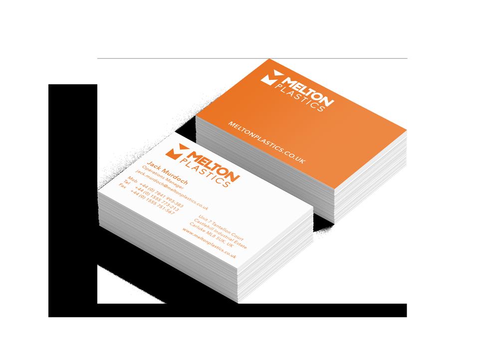 Melton Plastics business card design stationery Skein Agency digital design marketing Glasgow