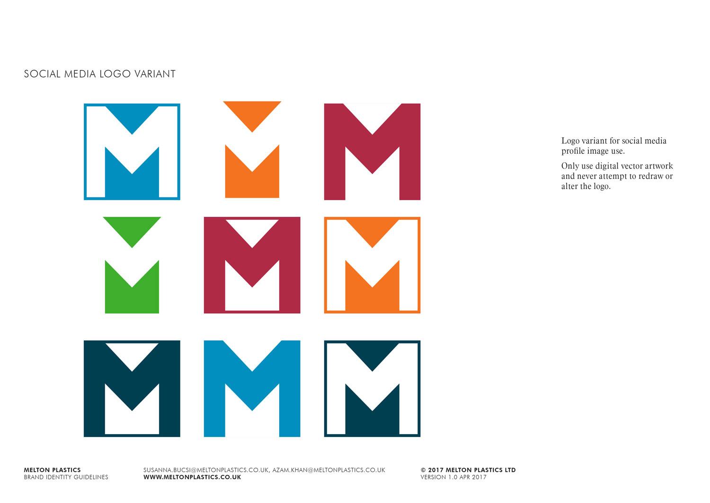 Melton Plastics logo social media variants Skein Agency digital design marketing Glasgow