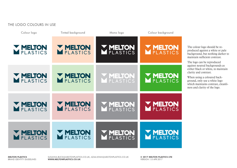 Melton Plastics logo colours in use Skein Agency digital design marketing Glasgow