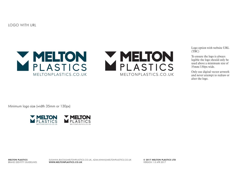 Melton Plastics main logo Skein Agency digital design marketing Glasgow