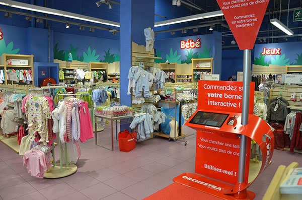 Kiosk in-store using an Interactive Multi-Touch Software