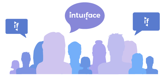 Interaction between users in the Intuiface Users Community