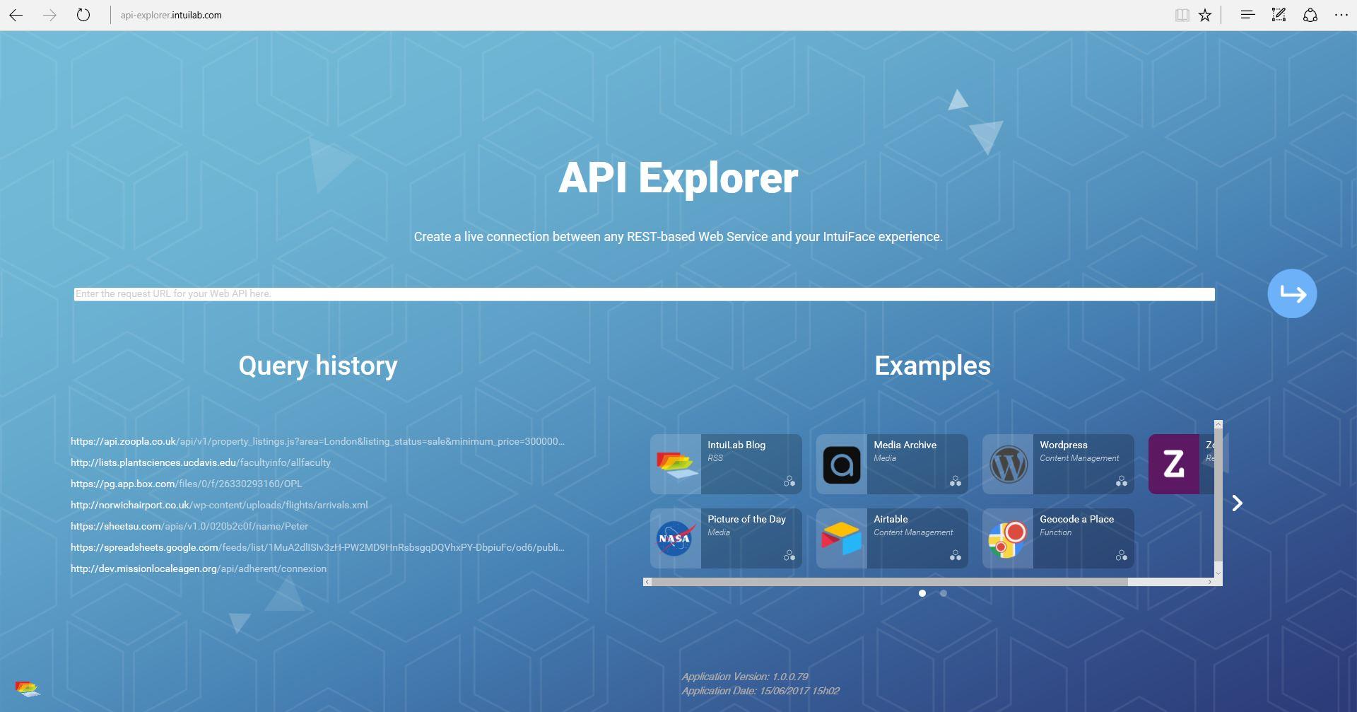 Intuiface API Explorer
