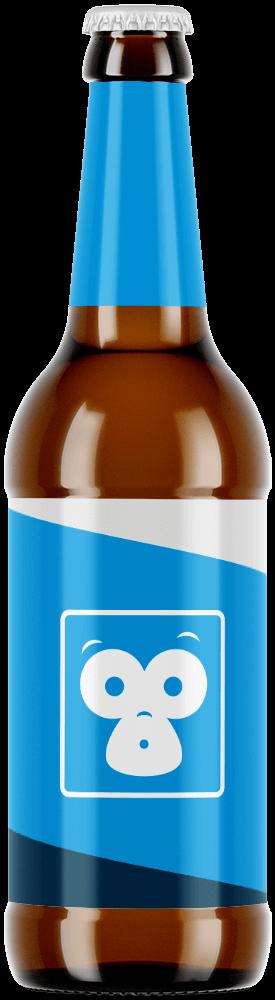 Beer bottle with Bristol Labels branded packaging