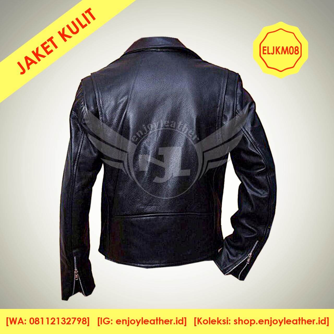 Jaket Kulit Anak Muda Keren Desain dan Model Terbaru Asli Garut ELJKM08 835c81649e
