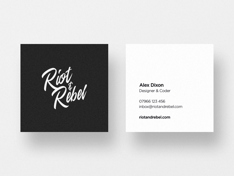 Riot and Rebel Business Card Design