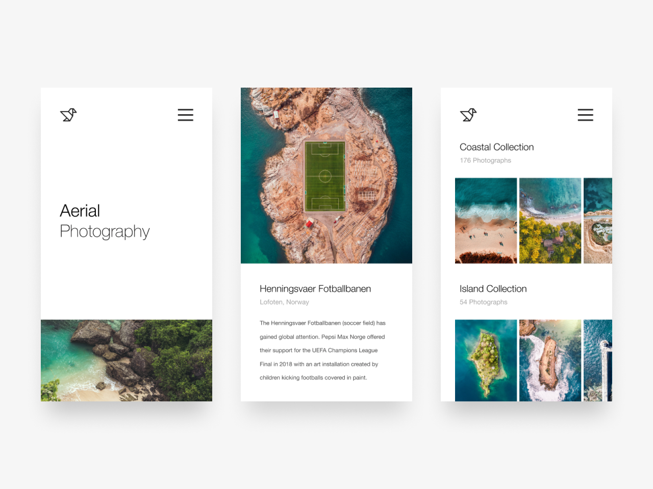 Aerial Photography Web Design Concept