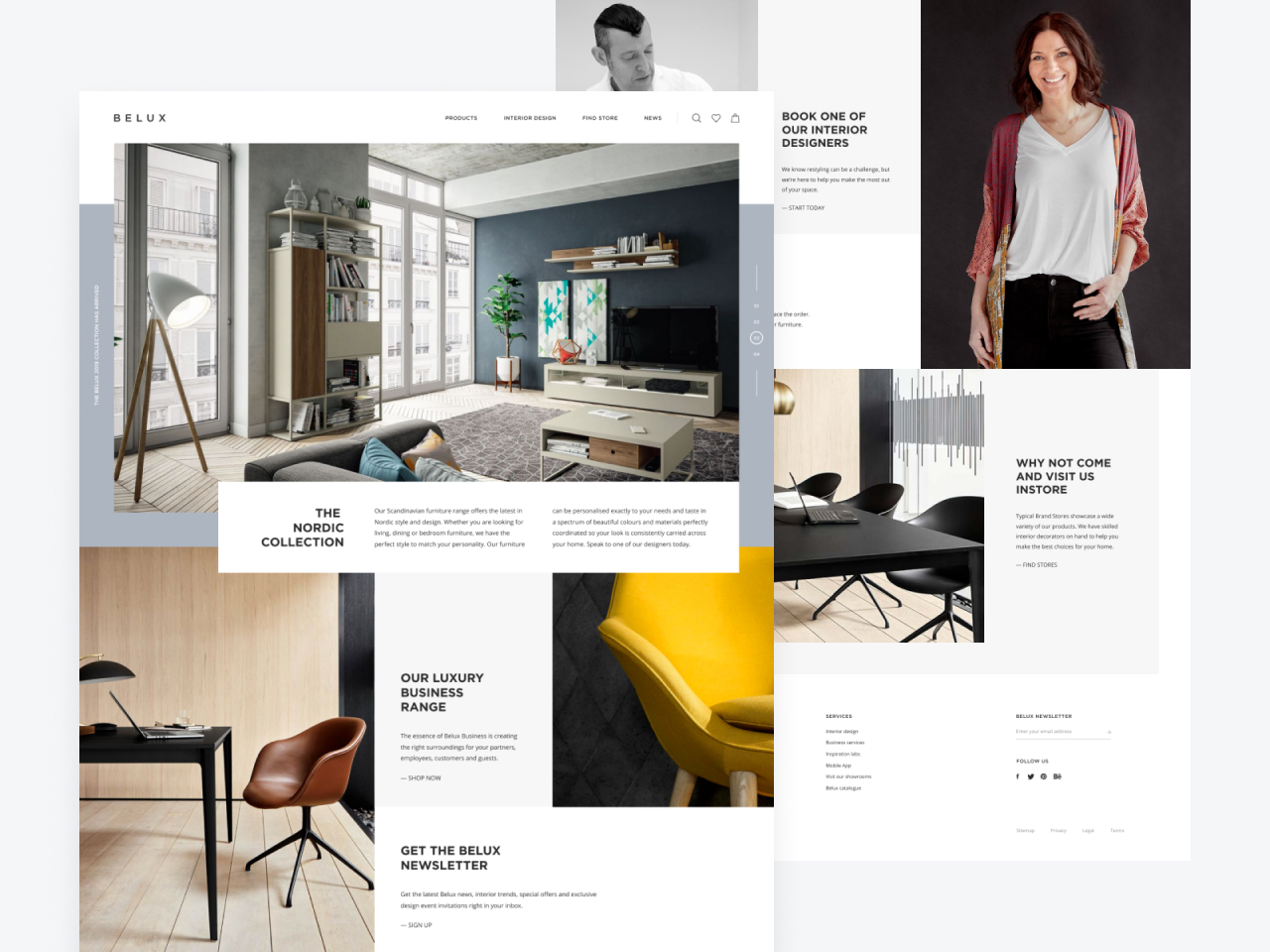 Belux Furniture Store Web Design Concept