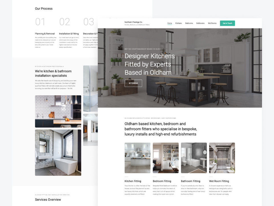 Client Website, Northern Prestige