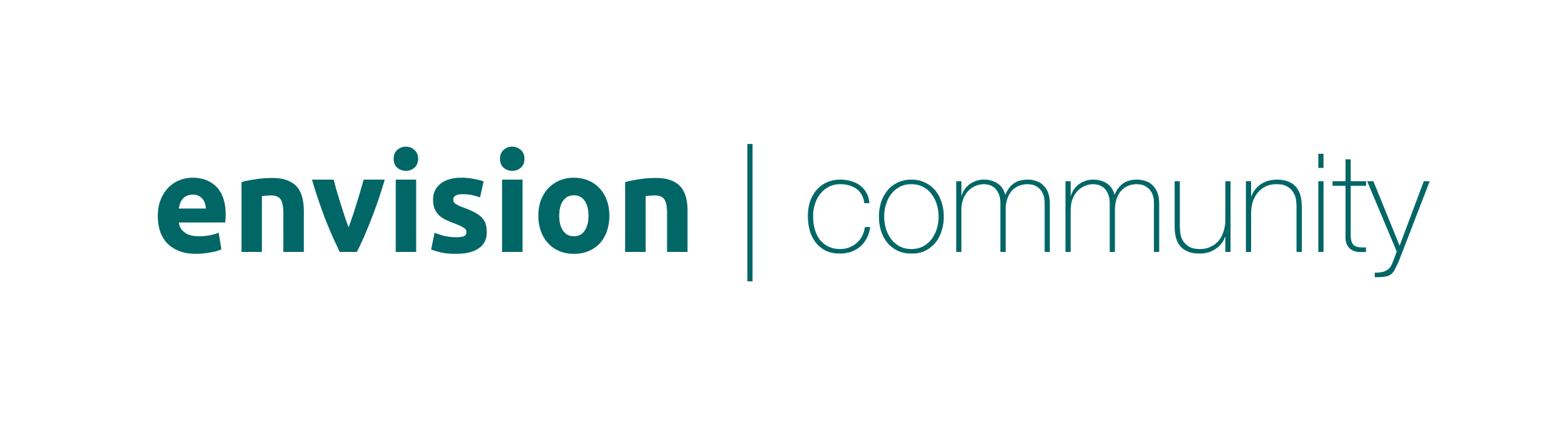 The logo of Envision Community, which is Envision in bold letters and the word community next to it.
