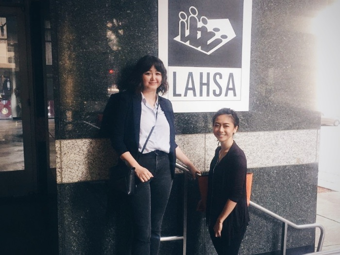 UX/UI designers discuss web design solutions at the Los Angeles Homeless Services Authority
